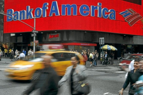 Fachada del edificio de Bank of America en Nueva York. | Reuters