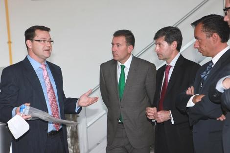La visita al CEEI se ha producido este lunes. | ELMUNDO.es
