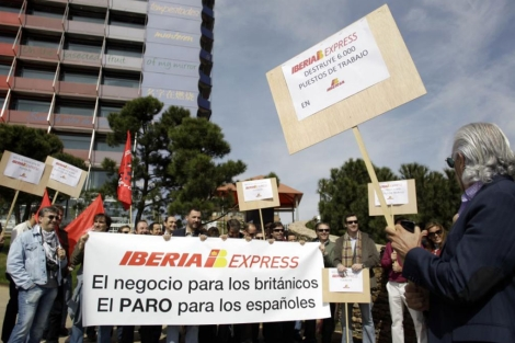 Protestas por la creacin de Iberia Express. | Alberto Di Lolli