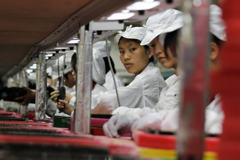 Interior de una fábrica de Foxconn en China. | Reuters