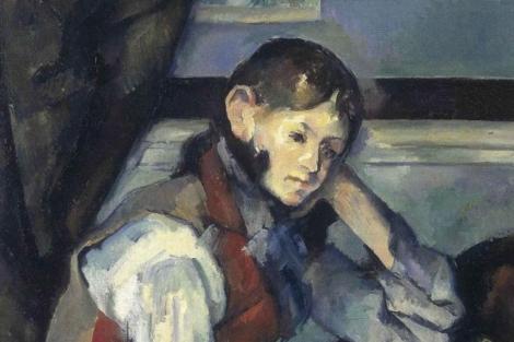 Detalle de 'El niño del chaleco rojo'.