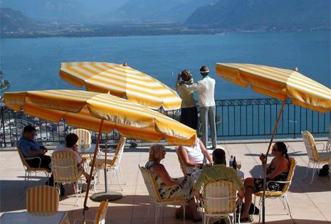 Vista a la Riviera Suiza desde el Hotel Le Mirador. | EM