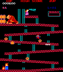 Imagen de Donkey Kong, primer xito de Miyamoto