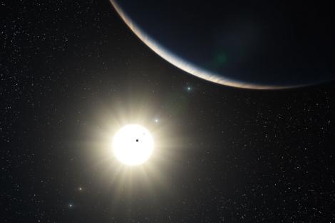 Recreación del sistema planetario HD10180 | ESO/ L. Calçada