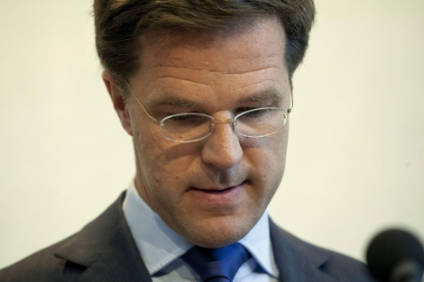 Mark Rutte, cuando anunci que dimitira.| Efe/Phil Nijhuis