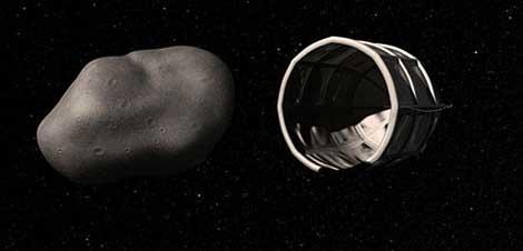 Recreación de la captura de un asteroide. | Planetary Resources