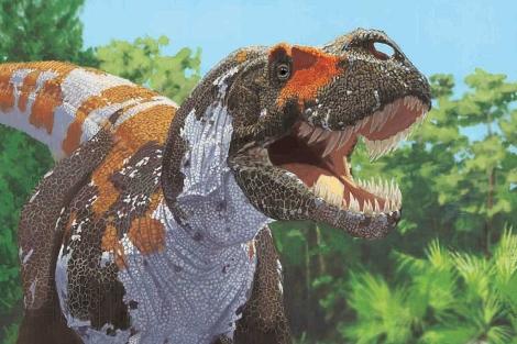 Recreación de un 'Tyrannosaurus rex'. | AMNH/J. Brougham