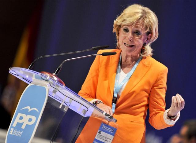 La presidenta de la Comunidad de Madrid, Esperanza Aguirre. | Gonzálo Arroyo