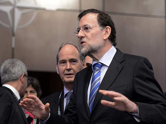 El presidente del Gobierno, Mariano Rajoy, a su llegada a la reunin de la cumbre de la OTAN. | Efe
