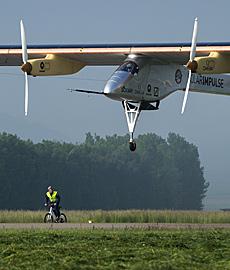 El avión Impulse, en pleno vuelo. | Afp