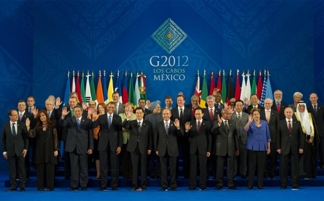 Los lderes mundiales en la cumbre del G-20 en Los Cabos, Mxico. | Afp