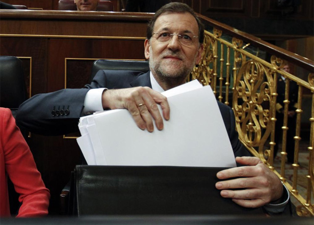 El presidente del Gobierno, Mariano Rajoy, en el Congreso. | Reuters