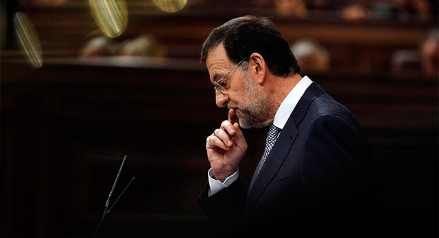 Mariano Rajoy, durante su comparecencia en el Congreso. | Reuters