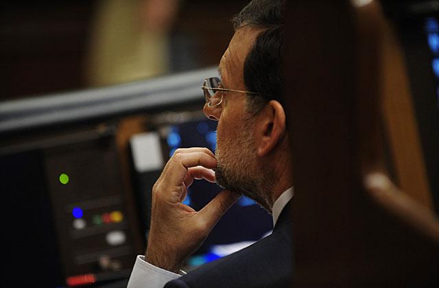 El presidente del Gobierno, Mariano Rajoy, durante la sesión de hoy en el Congreso. | Bernardo Díaz