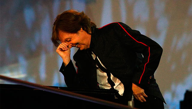 Paul McCartney, durante la ceremonia.