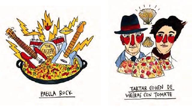 Dos de las ilustraciones de Ricardo Cavolo.