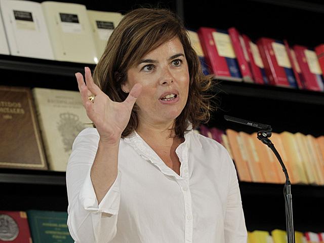 La vicepresidenta visita las instalaciones del BOE. | Sergio Barreneche / Efe