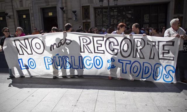 Protesta de funcionarios en Madrid. | Alberto di Lolli
