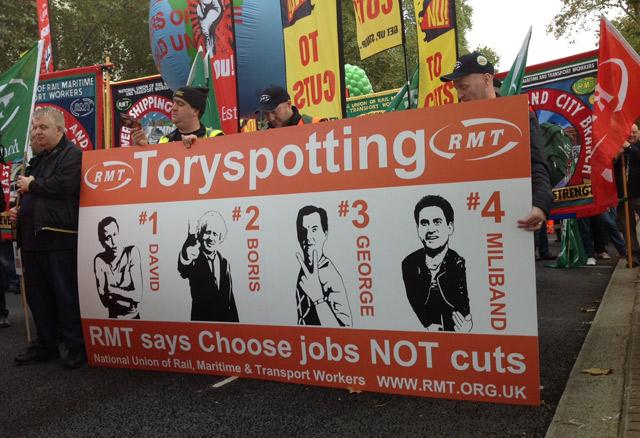 Imagen de la marcha en Londres. | Foto: C.F.