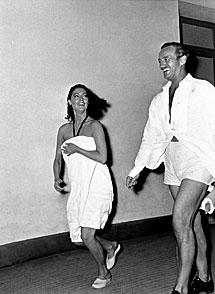 Ava Gardner y David Niven, 1958. | T. Secchiaroli / Cortesía de D. Secchiaroli