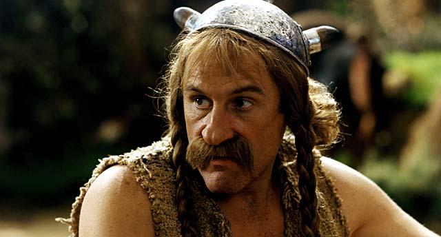 Gérard Depardieu, caracterizado como Astérix.
