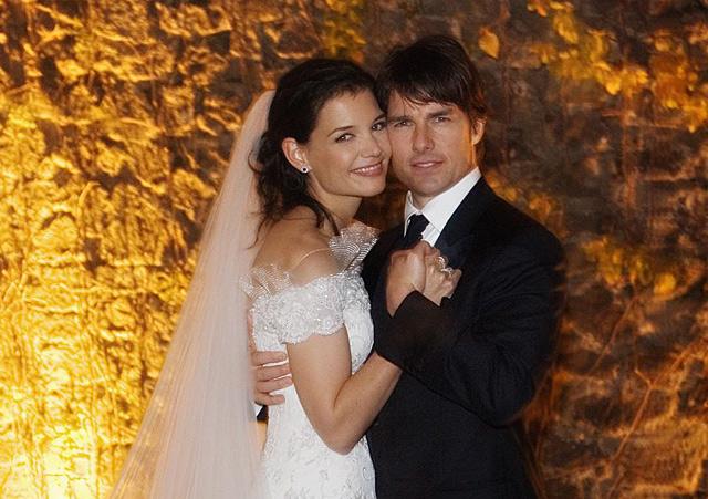 Tom Cruise y Katie Holmes, el día de su boda.| Gtres