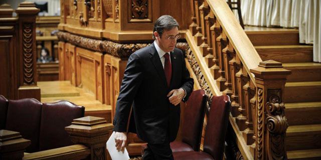 El primer ministro luso, Pedro Passos Coelho, en el Parlamento portugus. | Afp