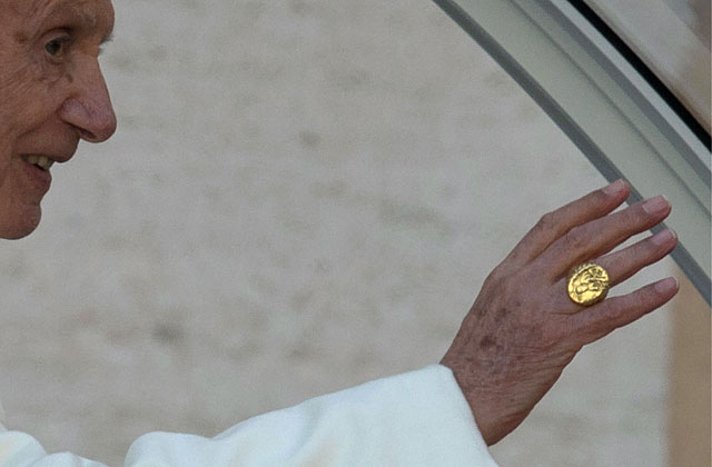 Benedicto XVI, este miércoles en su última audiencia. | AFP