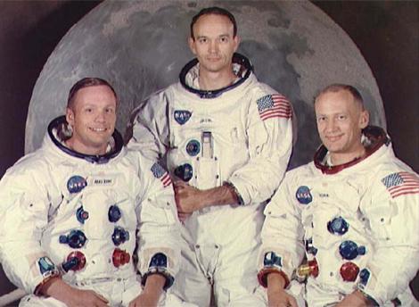 Armstrong, Aldrin y Collins, la tripulación del Apolo 11. | NASA