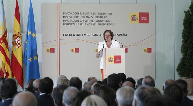 Rita Barberá, durante la inauguración del primer Foro Empresarial de la Marca España. | Efe. El Mundo.es