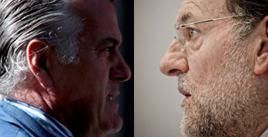Luis Bárcenas y Mariano Rajoy. | S. González / J. Aymá