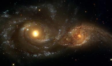 Colisión entre las galaxias 'NGC2207' e 'IC2163'. | NASA / ESA / HST