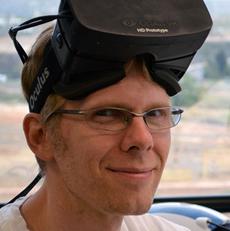 John Carmack, con Oculus Rift.