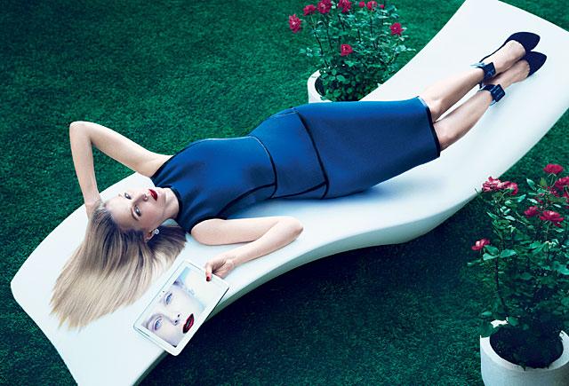 Marissa Mayer, en el reportaje. | Mikael Jansson/AmericanVogue.com