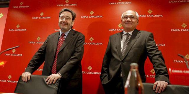 Serra y Todó, presidente y director general de la caja, en la presentación del estado de cuentas.