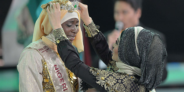 La aspirante nigeriana, ganadora del concurso. | Fotos: AFP