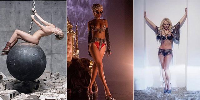 Miley Cyrus, Rihanna y Britney Spears en sus trabajos recientes.