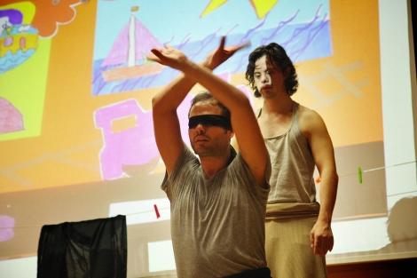 El bailarín Daniel Parejo, con síndrome Down, durante una representación. | Fernando Ruso