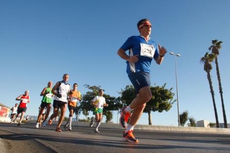 Media Marathon ciudad de Málaga. Antonio Pastor