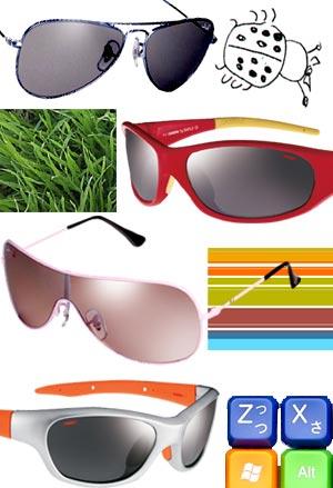De arriba abajo, gafas 'piloto' de Ray-Ban Junior; gafas infantiles de ...